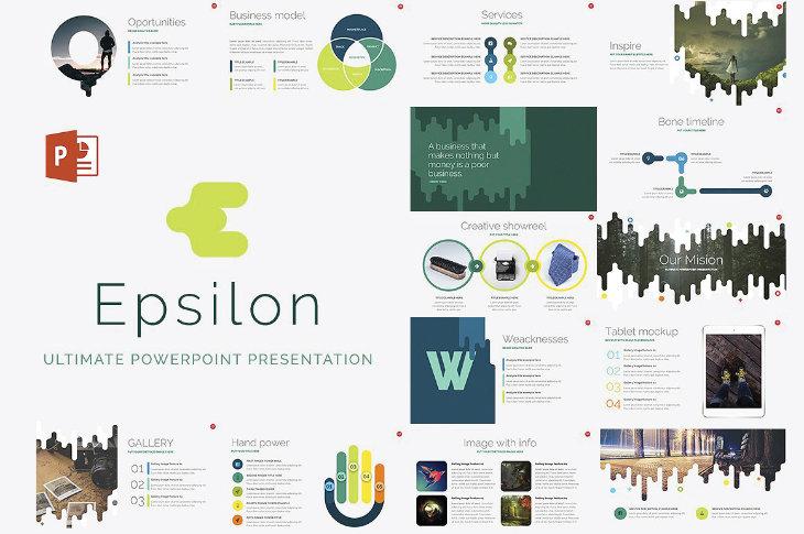 Epsilon, plantilla original para PowerPoint