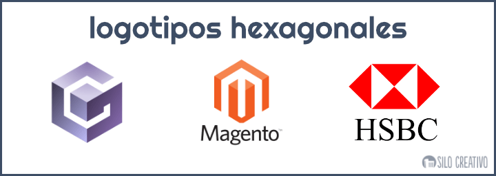 logotipos hexagonales ejemplos