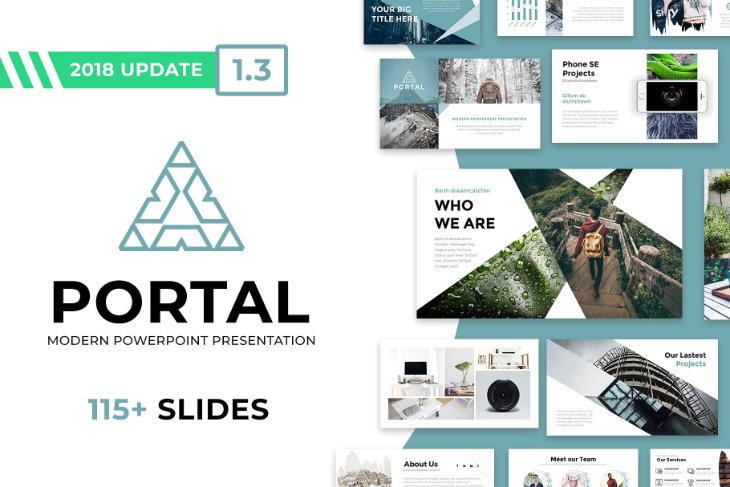 Portal, plantilla original para PowerPoint