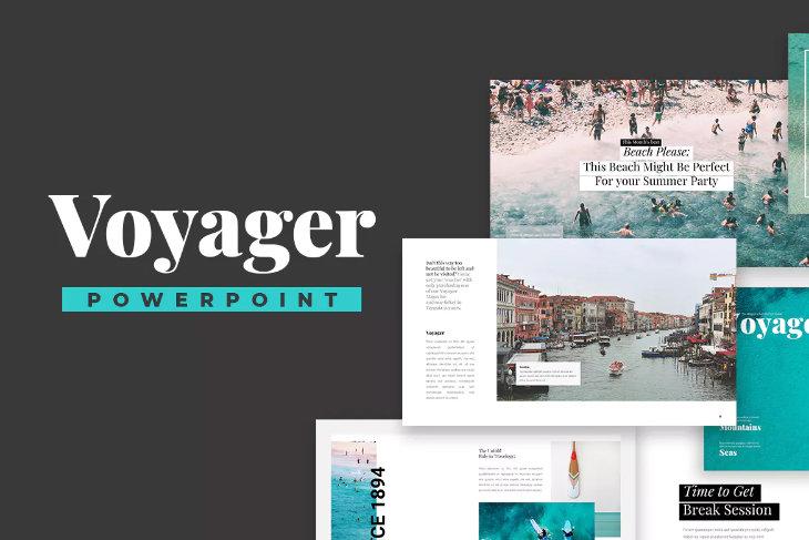 Voyager, plantilla original para PowerPoint