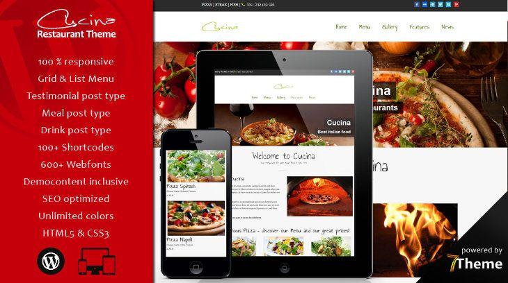 Cucina, plantilla WordPress para restaurantes