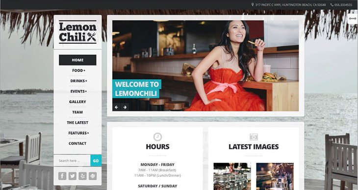 Lemonchili, plantilla WordPress para restaurantes