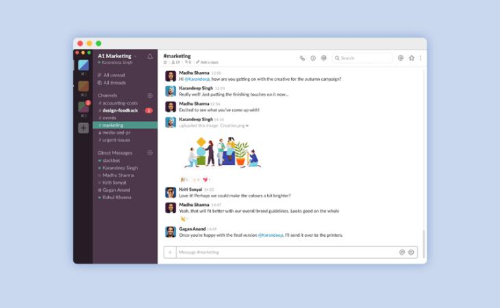 Slack, software de mensajería instantánea para trabajo en remoto