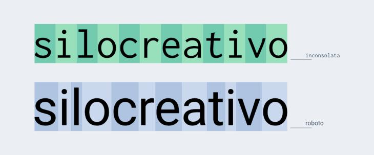 comparacion de achura de caracteres entre tipografia monoespaciada y tipografias proporcionales