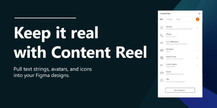 Content Reel, plugin para Figma