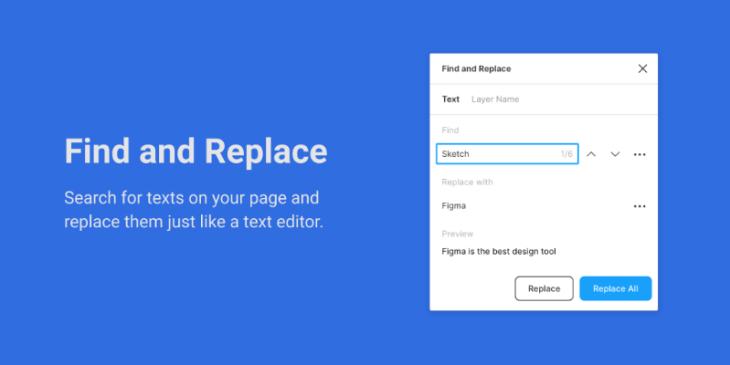 Find and Replace, plugin para Figma
