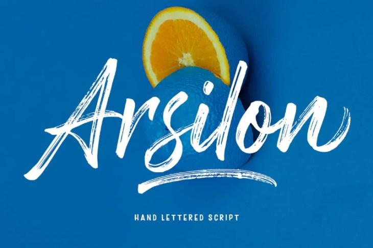 Arsilon, tipografía estilo handwritting