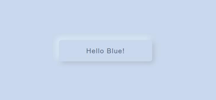 neumorfismo botón azul normal