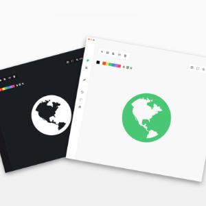 aplicacion svg splash con icono cambiado de color