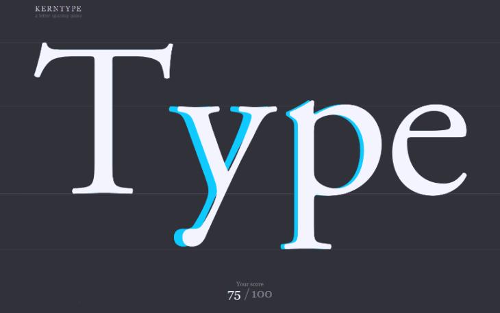 Kern Type, juego con tipografías