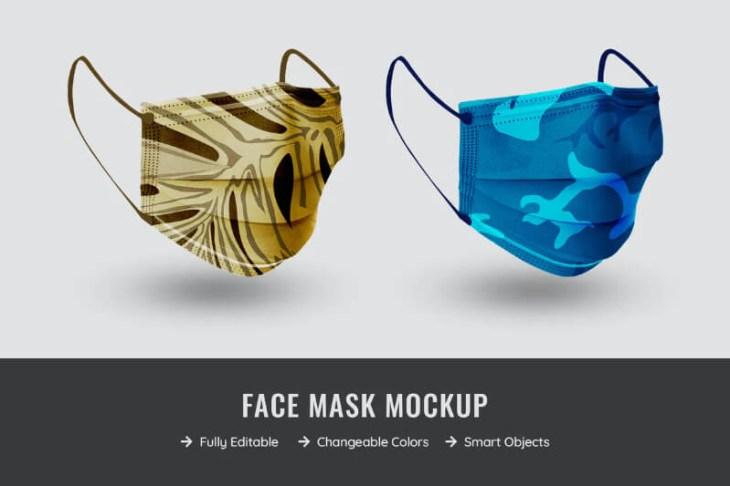 Mockup mascarillas de camuflaje