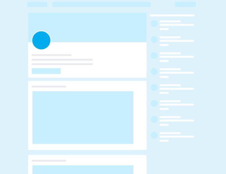Posición de la imagen de perfil en LinkedIn