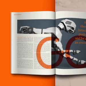 diseño de revista creado con affinity publisher
