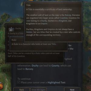 tooltips en el juego crusader kings 3