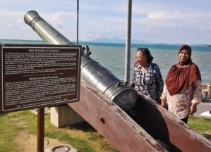 Gambar Senjata Tradisional Aceh Meriam Sri Rambai