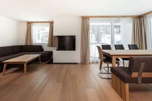 Offener Wohn/ Essbereich Wohnung Sils