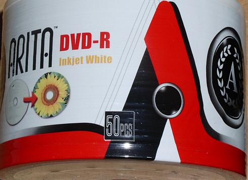 Eine 50er Spindel Leer-DVDs