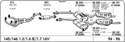 Izduvni lonac Alfa Romeo 145 1.3/1.6/1.7 16V 94 izlazna