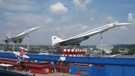 Concorde & Tupolev TU-144 at Sinsheim Auto & Technik Museum