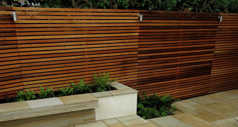Small Garden Space Enhanced Visually With Horizontal Western Red Cedar Battens Silva Timber