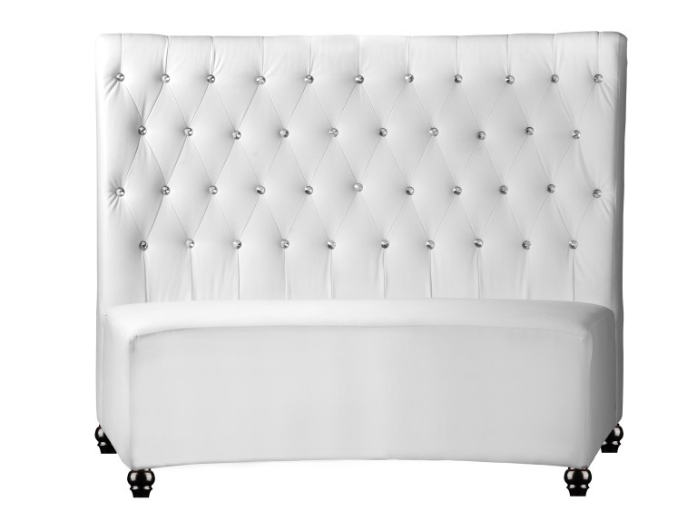 White Faux Booth