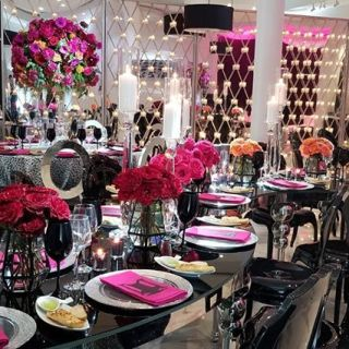 Chair and tables for event