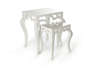 Tiffany Nesting Tables White