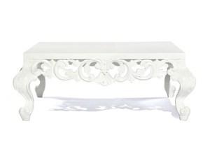 Rococo Square Coffee Table White
