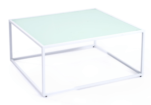 Mod White Square Coffee Table