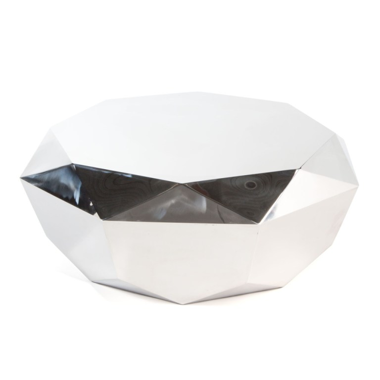 Solitaire Coffee Table Silver