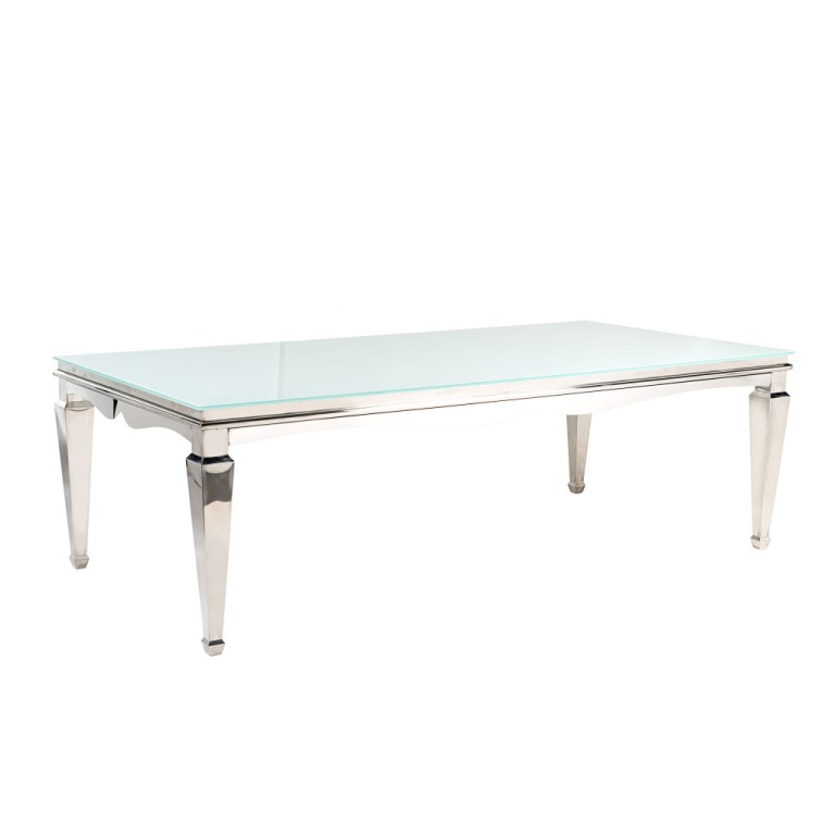 Madison Dining Table Silver/White