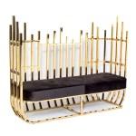 Trinton Sofa Gold/Black