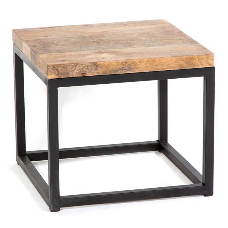 Industrial Square Side Table