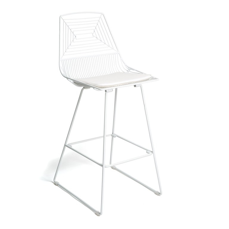 High Wire Bar Stool White