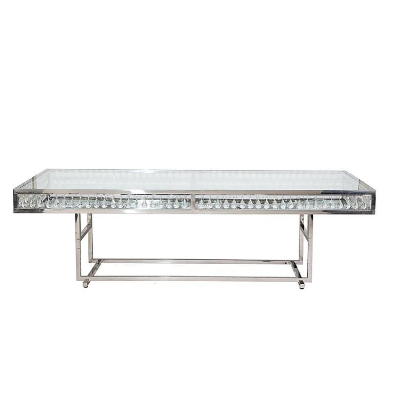 Le Crystal Dining Table Silver