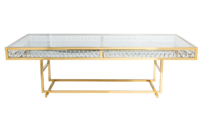 Le Crystal Dining Table Gold