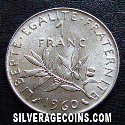 1960 Nuevo Franco Francs  Silveragecoins