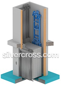 Gearless Traditiona Home Elevator Savaria | Silver Cross