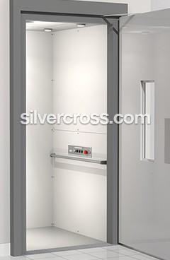 V1504 Wheelchair Lift Hoistway Savaria   Silver Cross
