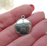 Silver Volleyball Necklace, Soccer Ball Necklace