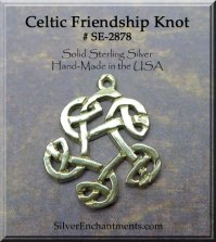 Sterling Silver Celtic Friendship Knot Charm-Pendant