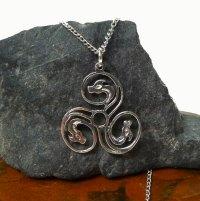 Sterling Silver Spiral Dragon Pendant, Celtic Triskelion ...
