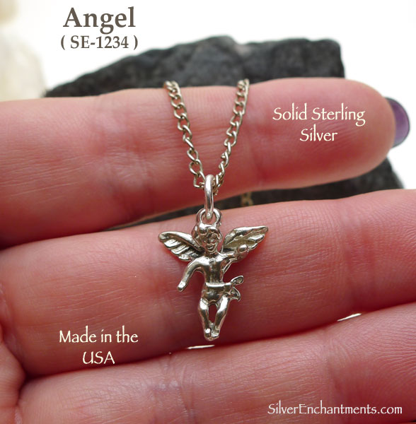 Sterling Silver Angel Charm Baby