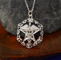 Sterling Silver Victorian Healer's Pentacle Pendant