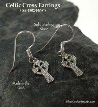 Sterling Silver Celtic Cross Earrings, Traditional Celtic ...