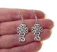 Sterling Silver Celtic Cross Earrings, Dangling Celtic ...