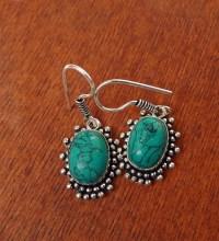 Turquoise Earrings, Bohemian Gemstone Earrings