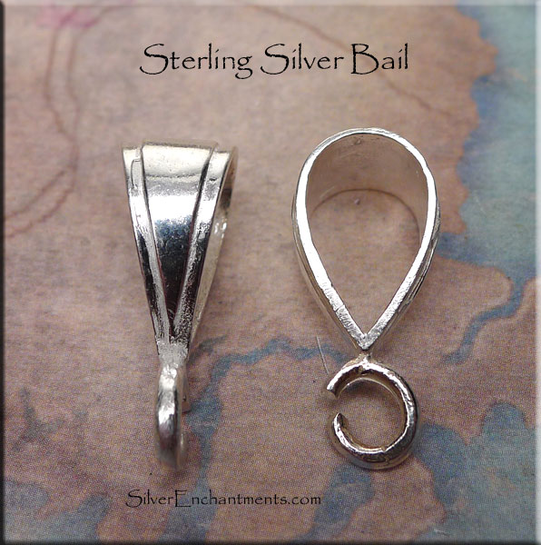 Sterling Silver Bail Large 24x9x115mm Large Silver