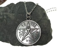 Tetragrammaton Necklace, Tetragrammaton with Vitruvian Man