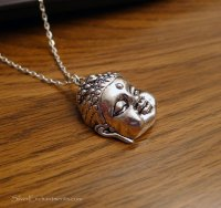 Silver Buddha Necklace, Dimensional Zen Buddah, Everyday ...